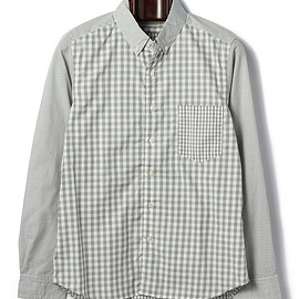 KATO' BASIC - gingham check button-down shirt