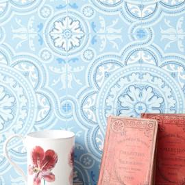 Orne de feuilles - Cole & Son  壁紙 Piccadilly/ライトブルー