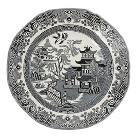 plates (classic Calico pattern)