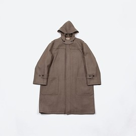 AURALEE - WOOL SILK MELTON DUFFLE COAT