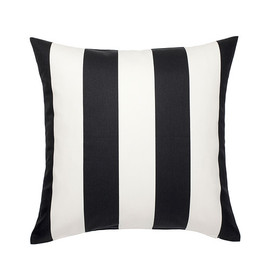 IKEA - VÅRGYLLEN Cushion cover, white, black