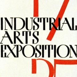 Paul Rand - Industrial Arts Expo Poster, 1935