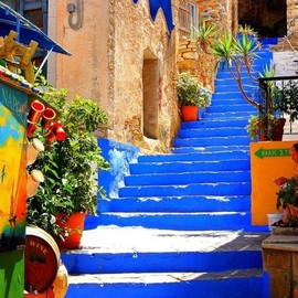 Blue Stairs, Symi Island, Greece - Blue Stairs
