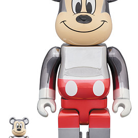 MEDICOM TOY - BE@RBRICK fragmentdesign MICKEY MOUSE COLOR Ver.100% & 400%