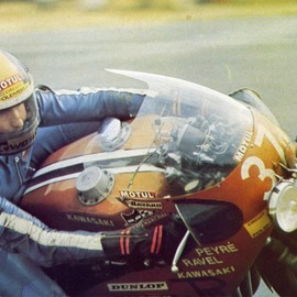 Kawasaki - Jean Bernard Peyre - Bol d'Or 1975(via bike70)