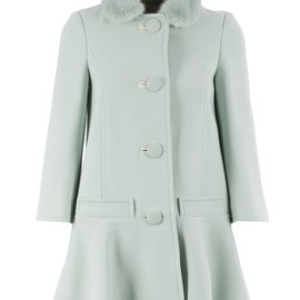 RED VALENTINO - flared hem coat