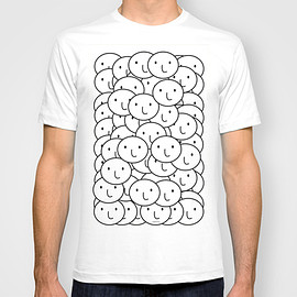 try2benice - NICE SMILEY PATTERN T-shirt