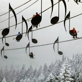 France - ♪music note ski lifts ♪