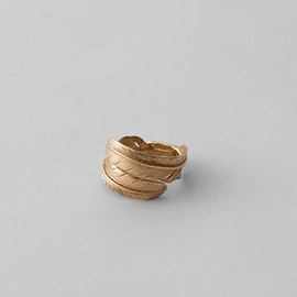 FANTASTIC MAN TOKYO - FEATHER RING (Double) Gold
