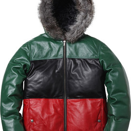 Supreme - Leather Down Jacket