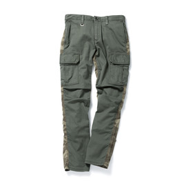SOPHNET. - CAMOUFLAGE MIX SLIM-FIT CARGOPANT