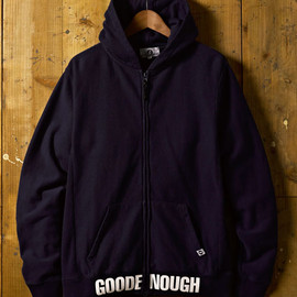 GOODENOUGH - RIB LOGO ZIP HOODY