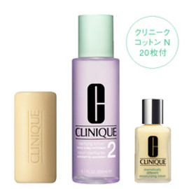 CLINIQUE - 3-step Basic Set(Skintype2, Clarifying Lotion 2, Facial Soap with Dish)