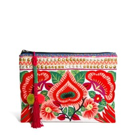 ASOS - , ASOS Clutch Bag With Floral Embroidery