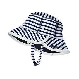 Patagonia - Baby Little Sol Hat /  Nautical Stripe: Channel Blue NACB