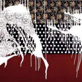 Sigmar Polke - Ashes to Ashes (1992, 240×400.7, oil and ink on printed fabrics and velour)