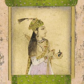 Portrait of a lady, 17th century Mughal dynasty