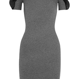 Opening Ceremony - Ruffled ribbed stretch-knit dress