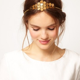 asos - Gold Chain Headband