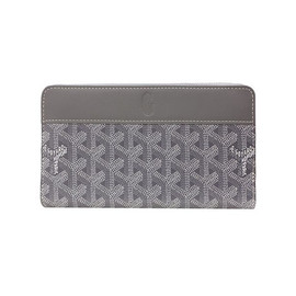 GOYARD - Round Zip Wallet Gray