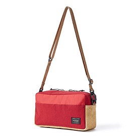 """HEAD PORTER - """"JACKSON"""" 2WAY POUCH RED"""
