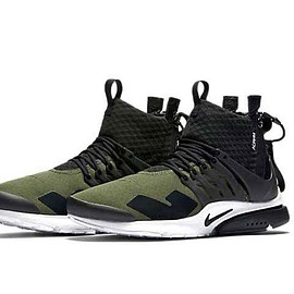 ACRONYM, NIKE - Air Presto Mid - Medium Olive/Dust Black