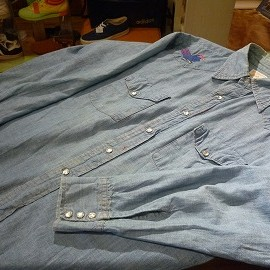 "BIG MAC - 「<used>70's BIGMAC COTTON100% WESTERN CHAMBRAY SHIRT ""made in USA"" size:S-M? 5500yen」完売"