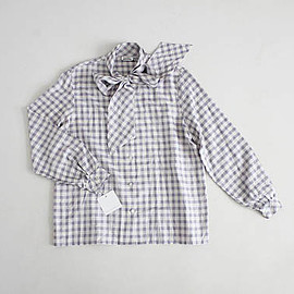 vintage - purple gingham blouse | secretary blouse | purple plaid shirt