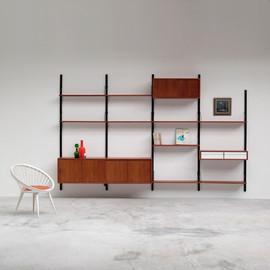 Poul Cadovius - Royal System floating wall unit with dressoir / cabinet