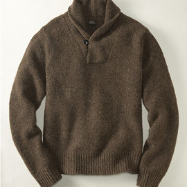 L.L.Bean - 【L.L.Bean Signature】Brushed Lambswool Shawl Neck