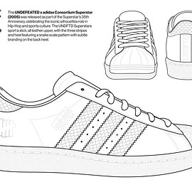 UNDEFEATED, adidas - Coloring Book - Consortium Super Star