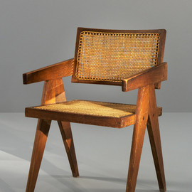 Pierre Jeanneret - office cane chair, Chandighar, ca 1955