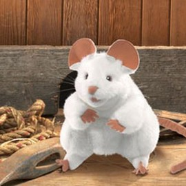 Folkmanis - White Mouse Hand Puppet