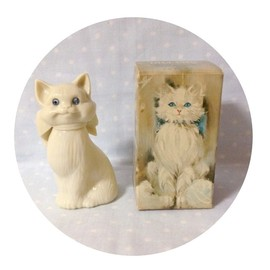 "Love Letter - 【Vintage】1970's Avon ""BLUE EYES"" Cat Perfume Bottle"