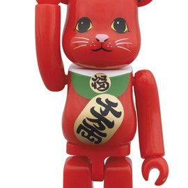 MEDICOM TOY - BE@RBRICK 招き猫 赤