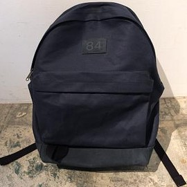 Varde77 - 84 LEATHER & CANVAS RUCKSACK (NAVY)