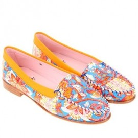 Carven - 2013/SPRING■CARVEN■Moccasins in leather with floral pattern 1