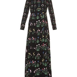 VALENTINO - Pre-Fall 2015 Primavera-print pleated-skirt dress