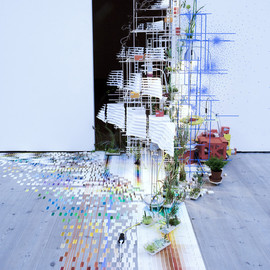 Sarah Sze - Tilting Planet, installation