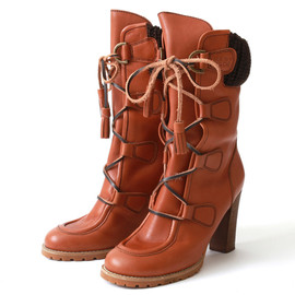 See By Chloe - Wallabee High Heel Calf Boots