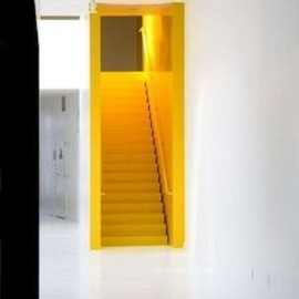 Cool idea for a stair case.  Shocking, but cool.