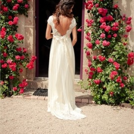 Back Lace wedding dress