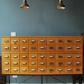 card catalogue drawers...always wanted one