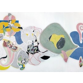 Christian Bonnefoi - Re-composition à la guitare ,2012 , Collage mural, 4m x 11m