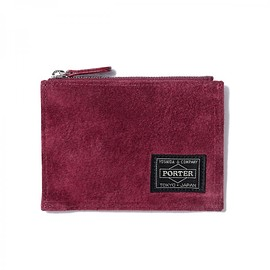 "HEAD PORTER - ""MALMO"" ZIP WALLET BURGUNDY"