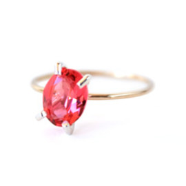 simmon - K10×SV Crystal Ring (red)