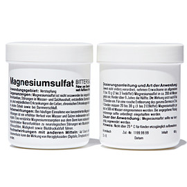 GENERAL VIEW - White jar for magnesium