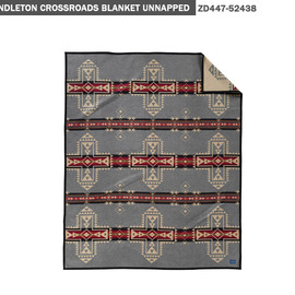 PENDLETON - CROSSROADS COLLECTION BLANKET GRAY