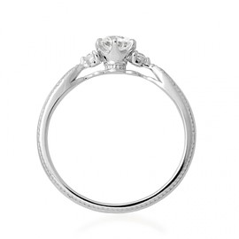 Hatae jewelry - K18WG Diamond Engagement Ring