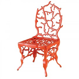 Currey and Company - Corail Chair-Red